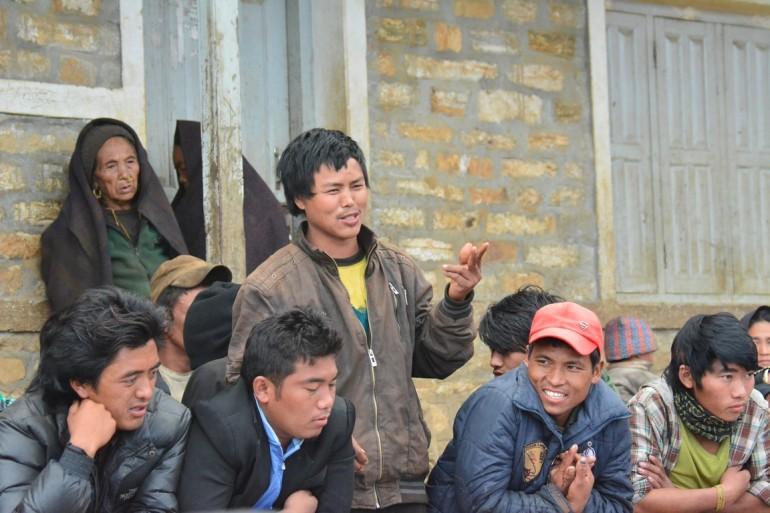 Réunion avec le comité du village